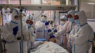Eine Intensivstation in einer Klinik in Leganes, einem Vorort von Madrid