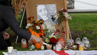 A candlelight vigil for murdered British tourist Grace Millane in Christchurch, New Zealand