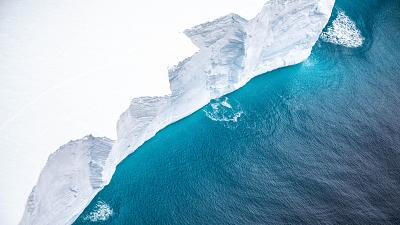 The iceberg, known as A68, is too big to be caught on camera from the air.