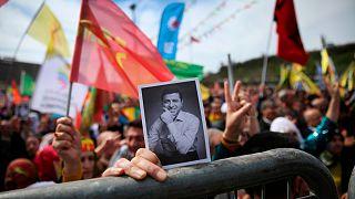 تظاهرات برای آزادی صلاح الدین دمیرتاش