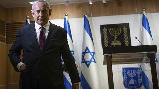 Ο πρωθυπουργός του Ισραήλ Μπένιαμιν Νετανιάχου μετά την διάλυση της Βουλής και την προκήρυξη πρόωρων εκλογών.