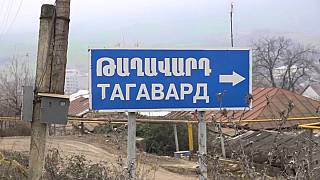 Un panneau signalant le village arménien de Taghavard, dans le Haut-Karabakh, Lika Zakaryan via Euronews