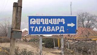 Aldeia de Taghavard encontra-se dividida em duas partes
