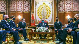 هیات سیاسی اسرائیل در حضور پادشاه مراکش