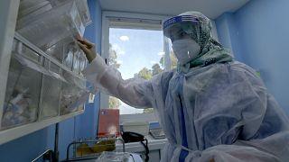 الصورة من مستشفى في الجزائر