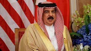 ملك البحرين حمد بن عيسى آل خليفة يتحدث خلال لقاء مع الرئيس الأمريكي دونالد ترامب في الرياض، المملكة العربية السعودية، 21 مايو / أيار 2017