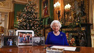 II. Erzsébet királynő 2019-es ünnepi beszéde felvételén