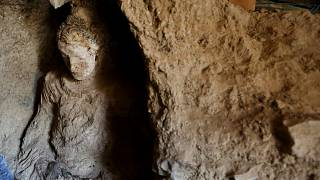 Afganistan'ın başkenti Kabil'in 40 km güneybatısında yer alan Mes Aynak Vadisi'nde keşfedilen bir Buda heykeli