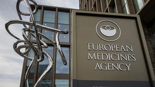 Outside view of the European Medicines Agency in Amsterdam premises