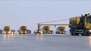 """شاهد: مطار """"شيريميتيفو"""" الدولي في موسكو يفتتح مدرجه الجديد"""