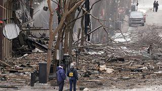 Место взрыва в Нэшвилле