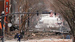 محل انفجار در شهر نشویل در ایالت تنسی آمریکا