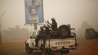 FILE PHOTO - UN forces from Rwanda patrol the streets of Bangui, Central African Republic, Friday Feb. 12, 2016.