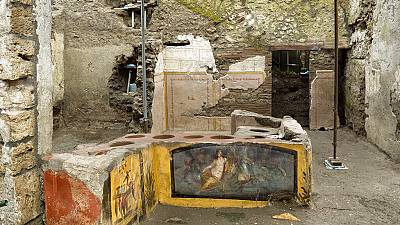 An ancient thermopolian has been uncovered by archaeologists in Pompeii