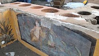 Descubren un termopolio en Pompeya