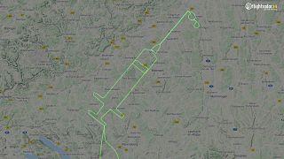 Fecskendő formájú repülési útvonal