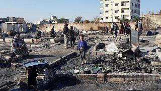 Lübnan'da bir çadır kampı ateşe verildi, 80 aile sokakta kaldı