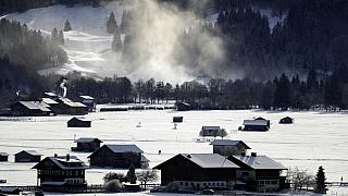 Oberstdorf im Allgäu in Bayern am 27.12.2020