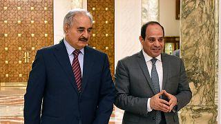 General Halife Hafter & Mısır Cumhurbaşkanı Abdülfettah el Sisi / ARŞİV