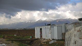 في أحد المخيمات السورية في البقاع