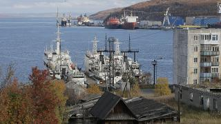 Мурманский порт, сентябрь 2013