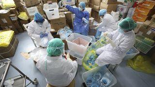 صورة من الارشيف- مستشفى مخصص لمرضى فيروس كورونا في ووهان