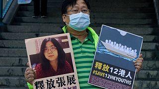 Ativista pró-democracia pede liberdade para Zhang Zhan
