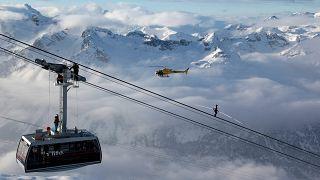 منتجع للتزلج في سويسرا
