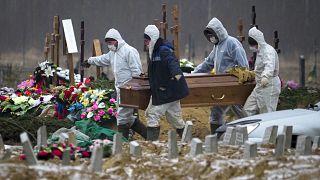 Похороны умершего от COVID-19 в Ленинградской области