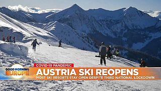 Alpine ski resort in Austria