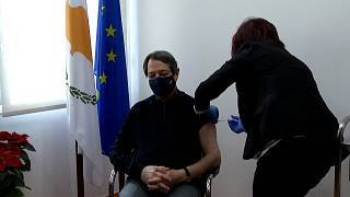 CYPRIOT PRESIDENT VACCINATED