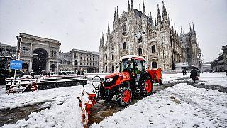 Zwanzig Zentimeter in einer Nacht - das hat Mailand lange nicht mehr erlebt.