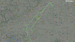 Le vol enregistré par les radars le 23 décembre 2020