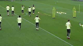 Manchester City à l'entraînement