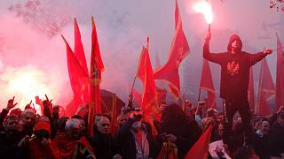 Karadağ'da protesto