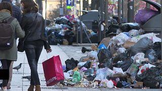 Müllabfuhr in Marseille im Streik