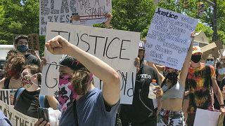 مظاهرات ضد عنف الشرطة في كولومبوس- الولايات المتحدة