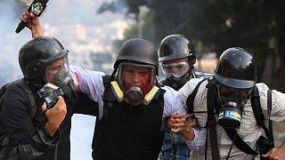 Venezuela'da yaralan bir televizyon muhabiri (2019)