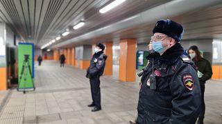 مأموران پلیس در مسکو