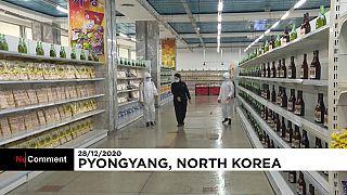 Desinfektion von Supermärkten in Nordkorea