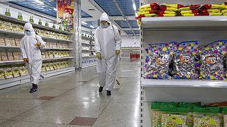 تعقيم متجر في بيونغ يانغ