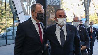 Rusya Dışişleri Bakanı Sergey Lavrov, Türkiye Dışişleri Bakanı Mevlüt Çavşoğlu (Soçi)