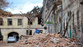 earthquake in Petrinja, Croatia
