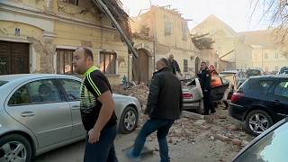 ویدئو؛ فروریختن ساختمانها در زلزلهٔ کرواسی