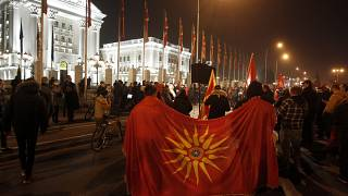 North Macedonia Protest