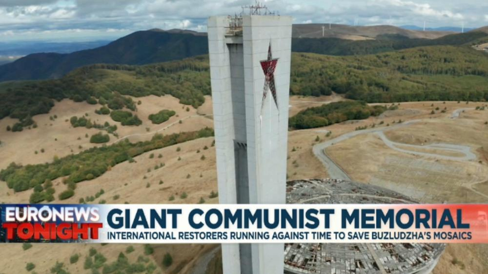 Buzludzha Monument: Restorers race to save communist-era memorial in Bulgaria