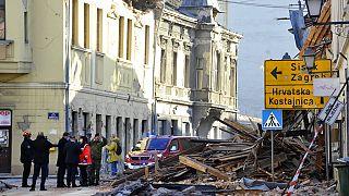 Nach dem Erdbeben in Petrinja in Kroatien