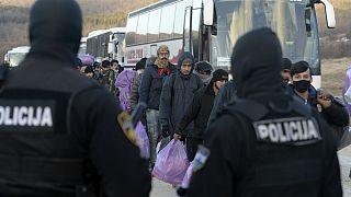 انتقال پناهجویان مستقر در بوسنی و در نزدیکی مرز کرواسی