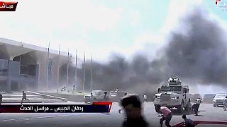 Yemen havalimanında 3 patlama meydana geldi