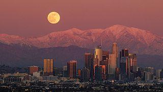 Vollmond über Los Angeles